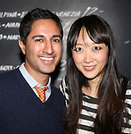 Maulik Pancholy & Sue Jean Kim attending the Opening Night Performance After Party for 'The Whale' at West Bank Cafe in New York City on 11/05/2012