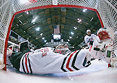 Chris Rawlings (NU - 37), David Strathman (NU - 6) - The Northeastern University Huskies defeated the Boston College Eagles 3-2 on Friday, February 19, 2010, at Matthews Arena in Boston, Massachusetts.