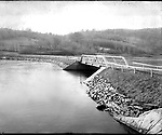 Frederick Stone negative. Wigwam Reservoir & Upper of Morris Dam, 'New Branch' Dam 1910.