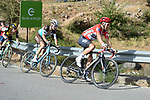 Race leader Red Jersey Michal Kwiatkowski (POL) Team Sky  climbs Sierra de la Alfaguara during Stage 4 of the La Vuelta 2018, running 162km from Velez-Malaga to Alfacar, Sierra de la Alfaguara, Andalucia, Spain. 28th August 2018.<br /> Picture: Colin Flockton   Cyclefile<br /> <br /> <br /> All photos usage must carry mandatory copyright credit (&copy; Cyclefile   Colin Flockton)