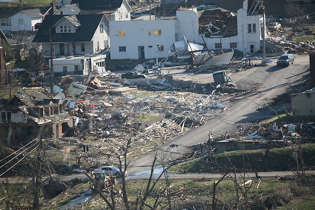 Tornado damage in West Liberty, Ky. March 3, 2012. A tornado ravaged the city Friday evening. Photo by Brandon Goodwin | Staff