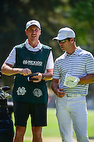 Paul Casey (ENG) looks over the 7th tee with his caddie during round 2 of the World Golf Championships, Mexico, Club De Golf Chapultepec, Mexico City, Mexico. 3/3/2017.<br />