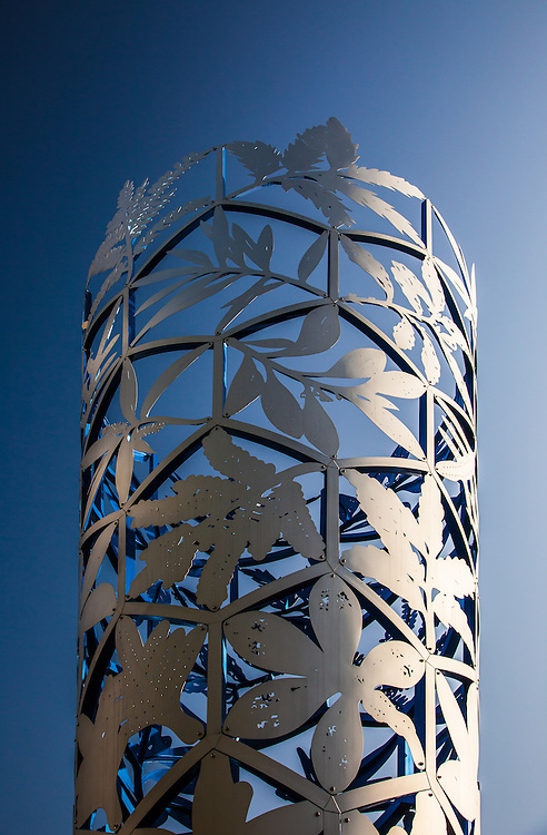 The Chalice Sculpture by Neil Dawson, Cathedral Square, Christchurch,New Zealand (pre February 2011 earthquake) - stock photo, canvas, fine art print