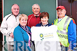 Committee: Some of the organising committee of the walk in aid of The  Irish Hospice Foundation, pictured in Listowlel on Friday morning: L-R: John Croghan, Noreen Healy, Batt O'Keeffe, Mary O'Connor & John McConnell