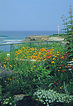 Gardens along Maginal Way at the Sparhawk Resort in Ogunquit, Maine, USA