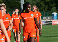 Kansas City, MO - Sunday July 02, 2017:  Nichelle Prince and teammates walk back to the locker room during a regular season National Women's Soccer League (NWSL) match between FC Kansas City and the Houston Dash at Children's Mercy Victory Field.