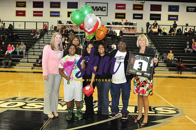 Stevenson Women's basketball team handily defeated Hood 85-58 Saturday afternoon at Owings Mills gymnasium as they honored the outgoing seniors.