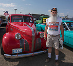Rich Isely with his 1939 Pontiac Silver Streak during the Hot August Nights Pre-Kickoff Party at the Bonanza Casino in Reno, Nevada on Sunday, August 6, 2017.
