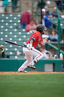 Rochester Red Wings Luis Arraez (9) at bat during an International League game against the Charlotte Knights on June 16, 2019 at Frontier Field in Rochester, New York.  Rochester defeated Charlotte 11-5 in the first game of a doubleheader that was a continuation of a game postponed the day prior due to inclement weather.  (Mike Janes/Four Seam Images)
