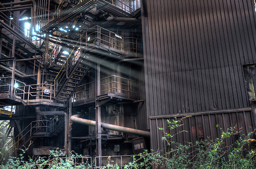 Abandoned steelworks.<br /> This place was quite a challenge to get in. Security was very present and I was feeling quite ill.But worth it in the end .