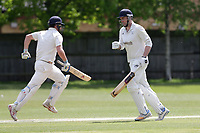 Brondesbury add to their total during Finchley CC vs Brondesbury CC (batting), ECB National Club Championship Cricket at Arden Field on 12th May 2019