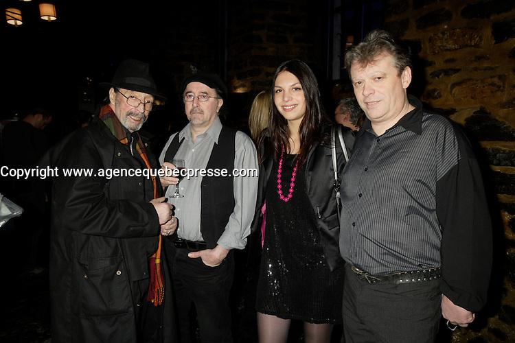 Montreal (Qc) CANADA - Feb 3 2009 -<br /> Bruno Pelletier album launch : RogerTabra, Emilio Armilles, Nadege Vacante, Gerard Beauchamp