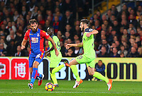 Adam Lallana and Joe Ledley in midfield action  during the EPL - Premier League match between Crystal Palace and Liverpool at Selhurst Park, London, England on 29 October 2016. Photo by Steve McCarthy.