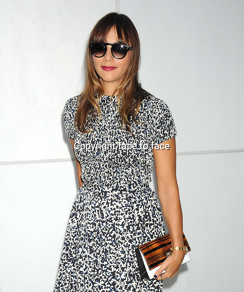 NEW YORK, NY - SEPTEMBER 11: Rashida Jones seen outside of the Proenza Schouler Spring 2014 Fashion Show in Midtown Manhattan during New York Fashion Week in New York, NY. September 11, 2013. <br />