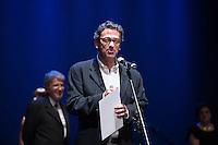 SAO PAULO, SP, 12 DE MARÇO DE 2013. PREMIO APCA 2012. Herson Capri  apresentam o evento de entrega da 57 edição do prêmio dos Melhores do ano da APCA aconteceu na noite desta segunda feira no Teatro  Paulo Autran no Sesc Pinheiros. FOTO ADRIANA SPACA/BRAZIL PHOTO PRESS