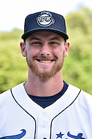 Asheville Tourists pitcher Alec Kenilvort (40) before a game against the Lakewood BlueClaws at McCormick Field on May 4, 2016 in Asheville, North Carolina. The Tourists defeated the BlueClaws 2-0. (Tony Farlow/Four Seam Images)