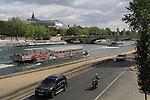 The Grand Palais (Palace) and Seine River, Paris, France.
