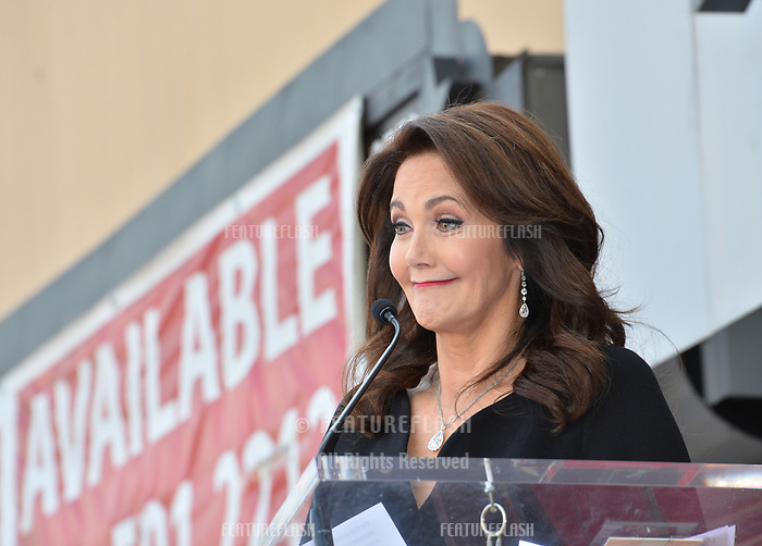 Lynda Carter at the Hollywood Walk of Fame Star Ceremony honoring TV's &quot;Wonder Woman&quot; star Lynda Carter on Hollywood Boulevard, Los Angeles, USA 03 April 2018<br /> Picture: Paul Smith/Featureflash/SilverHub 0208 004 5359 sales@silverhubmedia.com