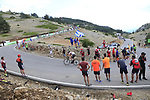 Tadej Pogacar (SLO) Trek-Segafredo on the final Cat 1 climb up to Observatorio Astrofisico de Javalambre during Stage 5 of La Vuelta 2019 running 170.7km from L'Eliana to Observatorio Astrofisico de Javalambre, Spain. 28th August 2019.<br /> Picture: Ann Clarke | Cyclefile<br /> <br /> All photos usage must carry mandatory copyright credit (© Cyclefile | Ann Clarke)