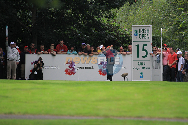 Padraig Harrington teeing off on the 15th tee during day two of the 3 Irish Open, at the Killarney Golf and Fishing Club, Killarney, Ireland.Picture Fran Caffrey/www.golffile.ie.
