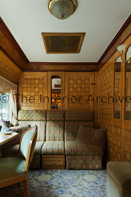 Travelling in style on the Eastern & Oriental Express from Bangkok to Singapore. The Presidential Cabin.