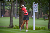 Jessica Korda (USA) watches her tee shot on 11 during round 1 of the U.S. Women's Open Championship, Shoal Creek Country Club, at Birmingham, Alabama, USA. 5/31/2018.<br /> Picture: Golffile   Ken Murray<br /> <br /> All photo usage must carry mandatory copyright credit (© Golffile   Ken Murray)