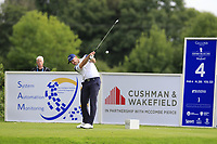 Stuart Manley (WAL) tees off the 4th tee during Sunday's Final Round of the Northern Ireland Open 2018 presented by Modest Golf held at Galgorm Castle Golf Club, Ballymena, Northern Ireland. 19th August 2018.<br /> Picture: Eoin Clarke | Golffile<br /> <br /> <br /> All photos usage must carry mandatory copyright credit (&copy; Golffile | Eoin Clarke)