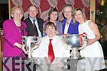 LIVEING: Cork people married to Kerry people living in Tralee who attended the Cork and Kerry Association dinner in Ballyroe Heights Hotel, Tralee on Friday night. L-r: Terry O'Brien, Mary O'Brien, Mike Lynch, Aileen Lynch, Bridget O'Sullivan and Teresa O'Brien.