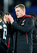 9th December 2017, Selhurst Park, London, England; EPL Premier League football, Crystal Palace versus Bournemouth; Bournemouth Manager Eddie Howe applauds the Bournemouth fans at full time