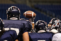 SAN ANTONIO, TX - NOVEMBER 18, 2010: The University of Texas at San Antonio Roadrunners Football team holds their final scrimmage of the 2010 season at the Alamodome. (Photo by Jeff Huehn)