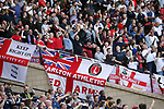 England's fans get behind their side during the FIFA World Cup Qualifying match at Hampden Park Stadium, Glasgow Picture date 10th June 2017. Picture credit should read: David Klein/Sportimage