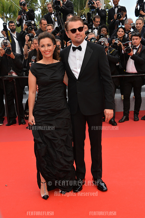 "CANNES, FRANCE. May 22, 2019: Leonardo DiCaprio & Leila Conners at the gala premiere for ""Oh Mercy!"" at the Festival de Cannes.<br /> Picture: Paul Smith / Featureflash"