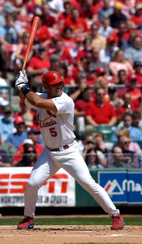 St. Louis Cardinals first baseman Albert Pujols during the 2004 MLB season.