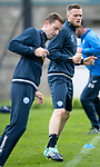 St Johnstone training&hellip;25.08.17<br />New signing Denny Johnstone pictured training with Steven MacLean at McDiarmid Park this morning ahead of tomorrows game at Celtic.<br />Picture by Graeme Hart.<br />Copyright Perthshire Picture Agency<br />Tel: 01738 623350  Mobile: 07990 594431