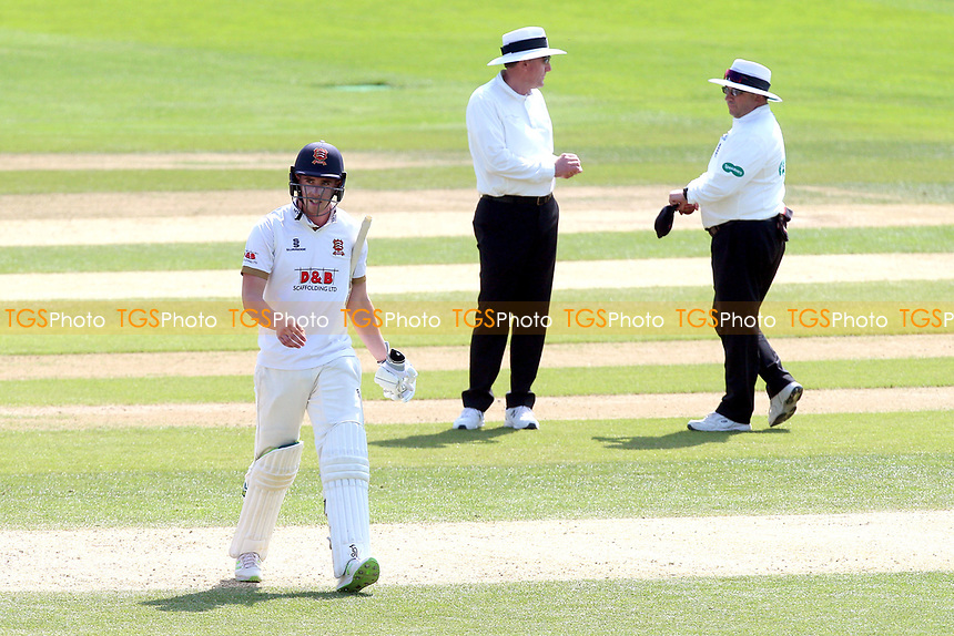 Daniel Lawrence of Essex leaves the field having been dismissed for 5 during Essex CCC vs Lancashire CCC, Specsavers County Championship Division 1 Cricket at The Cloudfm County Ground on 21st April 2018