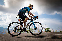 Alejandro Valverde (ESP/Movistar) up the finish climb & the highest peak of the 2020 #TdF: the Col de la Loze (HC/2304m/21,5km @7,8%)<br /> <br /> Stage 17 from Grenoble to Méribel - Col de la Loze (170km)<br /> <br /> 107th Tour de France 2020 (2.UWT)<br /> (the 'postponed edition' held in september)<br /> <br /> ©kramon