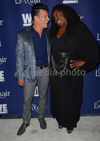"14 July 2015 - Hollywood, California - David Tutera, Kim Kimble. Arrivals for WE Tv's ""L.A. Hair"" premiere party held at Avalon Hollywood. Photo Credit: Birdie Thompson/AdMedia"