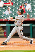 Brooks Pinckard #16 of the Baylor Bears follows through on his swing against the Houston Cougars at Minute Maid Park on March 4, 2011 in Houston, Texas.  Photo by Brian Westerholt / Four Seam Images