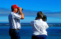 Tourist couple taking in the view.