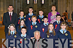 Loughquittane NS pupils who was confirmed by Bishop Bill Murphy in St Mary's Cathedral Killarney on Friday front row l-r: Irene Horan, Adam Brosnan, Shola Koschan, Jackie Walpole. Middle row: Kayleigh Murray, James Joy, Daniel O'Connor, David Moriarty. Back row: John McKenna, Michael Cronin, Aidan Fleming, Sean McGuire and Margaret O'Donoghue