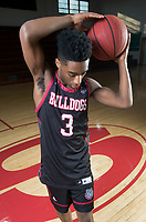 NWA Democrat-Gazette/CHARLIE KAIJO Division I Boys Newcomer of the Year Trentez Scales of Springdale High School poses for a portrait, Monday, March 12, 2018 at Springdale High School auxiliary gym in Springdale