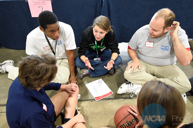 14 JAN 2015:  The Division III Special Olympics Clinic takes place during the 2015 NCAA Convention held at the Gaylord National Resort and Convention Center in National Harbor, MD.  Jamie Schwaberow/NCAA Photos