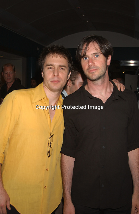 """Sam Rockwell and Josh Hamilton                              ..at a Screening of Alan Rudolph's """"The Secret Lives of ..Dentists on July 29,2003 at the Walter Read Theatre in..Lincoln Center. Photo by Robin Platzer, Twin Images"""