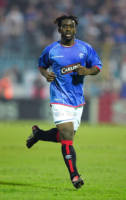 Olivier Bernard. Rangers.stock season 2005-2006.pic willie vass