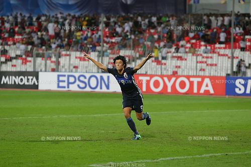 Koki Ogawa (JPN), OCTOBER 30, 2016 - Football / Soccer : Koki Ogawa of Japan celebrates scoring a penalty in the penalty shot out during the AFC U-19 Championship Bahrain 2016 Final match between Japan 0(5-3)0 Saudi Arabia at Bahrain National Stadium in Riffa, Bahrain. (Photo by AFLO)
