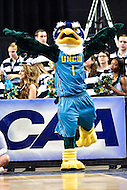 MAR 7, 2016: Baltimore, MD - North Carolina-Wilmington Seahawks mascot in action during the Championship game of the CAA Basketball Tournament at Royal Farms Arena in Baltimore, Maryland. (Photo by Philip Peters/Media Images International)