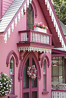 Campground cottages, Oak Bluffs, the Pink House, 1864, Marthas Vineyard, MA