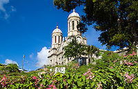 Old church, Cathedral of St John the Divine in capital city of St Johns, Antigua, Caribbean