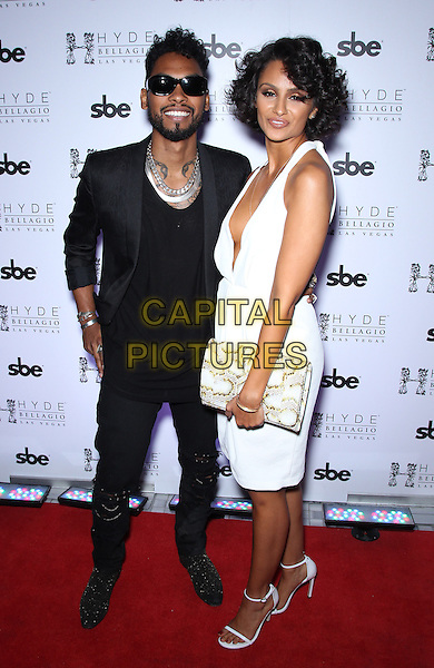 30 August 2014 - Las Vegas, Nevada - Miguel (Miguel Jontel Pimentel), Nazanin Mani.  Miguel helps girlfriend Nazanin Mani celebrate her birthday at Hyde Bellagio inside the Bellagio Resort Hotel and Casino.   <br /> CAP/ADM/MJT<br /> &copy; MJT/AdMedia/Capital Pictures