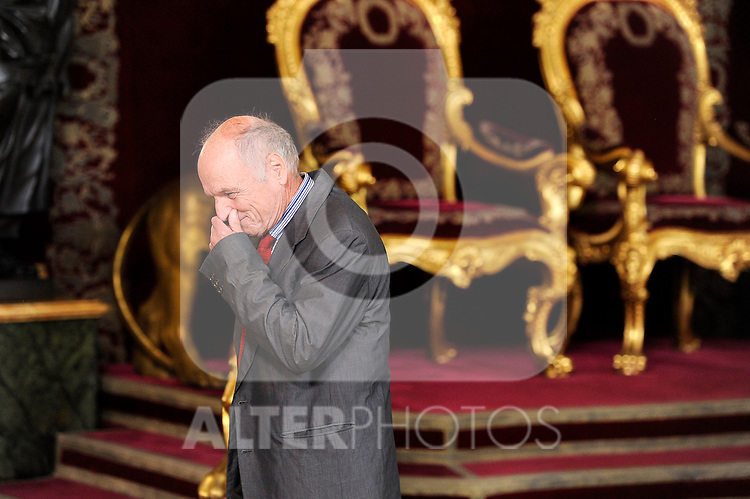 Spanish painter Antonio Lopez during the Spain's National Day Royal Reception at Royal Palace on October 12, 2014 in Madrid, Spain. October 12 ,2014. (ALTERPHOTOS/Pool)